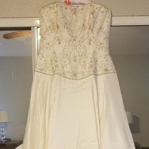 Allure wedding dress and vail